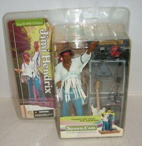 Jimi Hendrix Rock Figure Woodstock August 18 1969 McFarlane Toys Spawn 2004 NEW