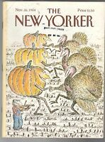 1984 New Yorker November 26 - Turkey and Pumpkin Thanksgiving Hoe-Down