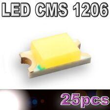 169/25# LED CMS 1206 blanche -600mcd -SMD white - 25pcs