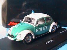 VW VOLKSWAGEN BEETLE COCCINELLE KAFER 1200 POLIZEI SCHUCO 1/43 POLICE ALLEMANDE