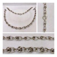 Silberkette Silber Collier Silberschmuck Silbercollier mit Knoten im Verlauf