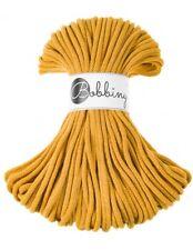 Bobbiny koord color: MUSTARD / 100% Cotton 5mm Bobbiny Rope 100m  Macrame Cord