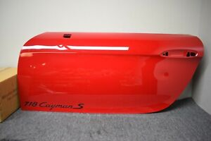 PORSCHE 718 CAYMAN S LEFT SIDE EXTERIOR DOOR FACTORY OEM