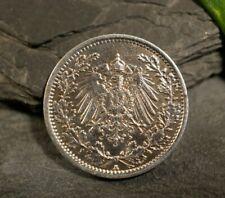 Silber Münze Deutsches Reich 1918 1/2 Mark Knopf Gehenkelt Kaiserreich Tracht