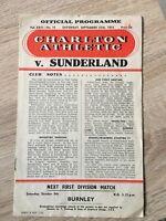 Charlton v Sunderland 1954/55