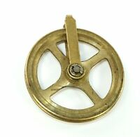 NEW REPLACEMENT BRASS CLOCK CHAIN PULLEY PULLY 38mm Diameter
