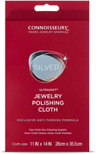 Connoisseurs Silver Polishing Cloth Jewelry Cleaner Use Dry No Need to Pre Wet