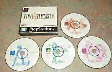 Final Fantasy  9 IX -  PlayStation PS1  PAL Version Black Label USA Seller 11