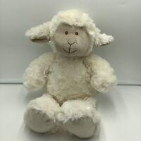 "Pier 1 One Imports Lamb Sheep 15"" Plush Stuffed Animal Soft Toy White Cream"
