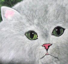 Original white cat portrait  Painting by Dia, EBSQ