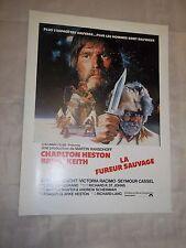 "AFFICHETTE CINEMA ""LA FUREUR SAUVAGE"" (1980) CHARLTON HESTON"