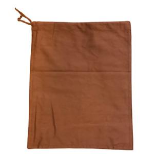 1 Heavy Duty Cash Deposit Bag Brown Money Draw String Cloth Bank Coin Retail UK