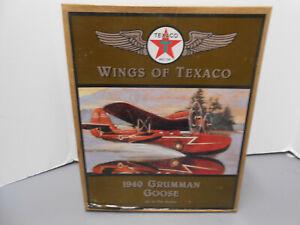 Wings of Texaco 1940 Grumman Goose Airplane Coin Die Cast Metal Bank New In Box