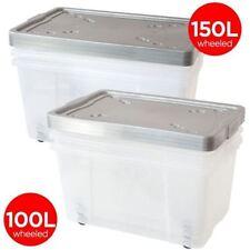 Contenitori e scatole impilabili in plastica per la casa