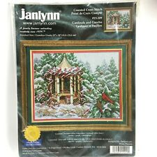 Janlynn CARDINALS AND GAZEBO Counted Cross Stitch Kit 15-209 NEW Diana Thomas