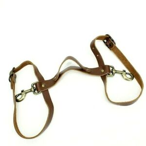 HARNESS 100% Leather and Brass Durable Dog Harness, New Made in USA, Brown