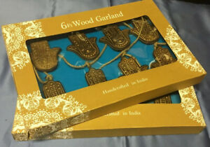 BRAND NEW - 2 Boxes Of Wood Garland ( Angels ? ) Each 6 Foot Length. Never Used.