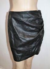 ZARA BASIC Brand Black Side Gathered Side Zip Skirt Size S BNWT #SC111