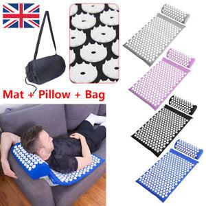 UK Massage Acupressure Mat Yoga Shakti Sit Lying Mats Pain Release Stress Relief
