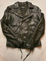 TIGHA Herren Biker Lederjacke Loris Black Sheep Leather Gr. S