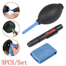 3 in 1 Lens Cleaning Cleaner Dust Pen Blower Cloth Kit for DSLR Camera UK