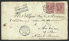 Nederland 1872 NVPH 21H paar op briefomslag met puntstempel 29 DORDRECHT