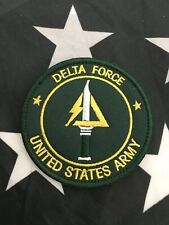 Delta Force US Army Special Force Counter Terrorism Embroider GREEN Patch Hk/Lp