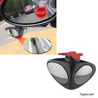360° Car Blind Spot Mirror Wide Angle Mirror Convex Rear View Mirror  Black Left