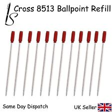 12 CROSS COMPATIBLE 8513 BALL POINT PEN REFILL INK - RED X12