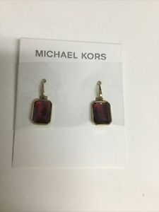 MICHAEL KORS Parisian Jewels Red Crystal Earrings Stunning NWT Ret$95