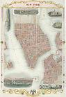 1850+New+York+Map+Brooklyn+Williamsburg+11%22x16%22+Home+School+Wall+Poster+History