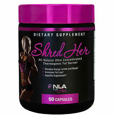 NLA FOR HER SHRED HER 60 CAPSULES THERMOGENIC FAT BURNER WEIGHT LOSS ALL NATURAL