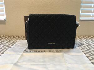 BRAND NEW MICHAEL KORS WOMEN'S BLACK LEATHER  rachel xl satchel bag 30t6tr4s9l