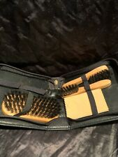 Travel Shoe Shine Brush Kit