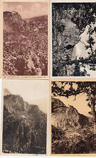 Lot 4 cartes postales anciennes GOURDON le village