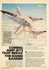 1984 Aircraft Ad, Supersonic Jump Jets V/STOL HARRIER Cutaway Views 081214