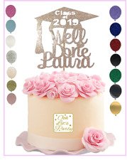 Personalised Graduation Cake Topper Customised Gold Silver Rose Gold Custom