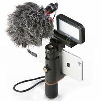 Estabilizador Smartphone Grabar Video Mouriv con micrófono cardioide y Luz Led