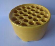 Vintage Bretby Art Pottery  Flower Frog Bold Yellow British Ceramics Rare Design