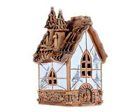 Ceramic Tealight Candle Holder House from Fantasy collection 15 cm © Midene