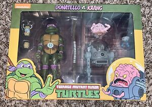 NECA Teenage Mutant Ninja Turtles Donatello VS Krang Action Figure New NIB