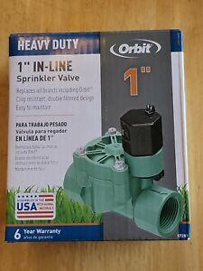 Orbit 1-inch Heavy-Duty FTP In-Line Sprinkler Valve - 57281 - NEW