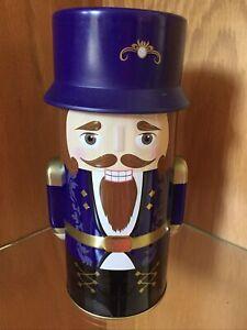 "⭐️NEW Harry London/Fannie May NUTCRACKER Christmas Holiday Tin  8""Tall- Purple"