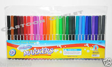 30 PC MARKERS WATER COLORS BRILLIANT ASSORTED COLORS FINE TIP LINE WASHABLE