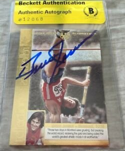 Bruce Jenner autographed signed 1996 Upper Deck USA Reflections of Gold card BAS