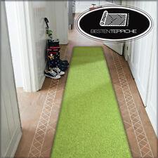 Moderne Läufer grün Teppich Korridor Flur Diele Breite 50, 60, 70, 80, 90 100 cm