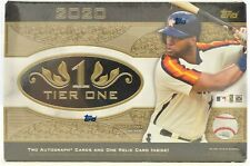 2020 Topps Tier One Baseball Factory Sealed Hobby Box