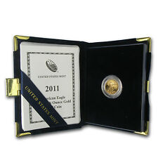 2011-W 1/10 oz Proof Gold American Eagle (w/Box & COA) - SKU #71371