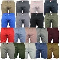 Mens Chino Shorts Threadbare Pants Westace Stallion Knee Length Roll Up Summer