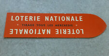 MARQUE PAGE LOTERIE NATIONALE LOTO FRANCE TIRAGE MERCREDI